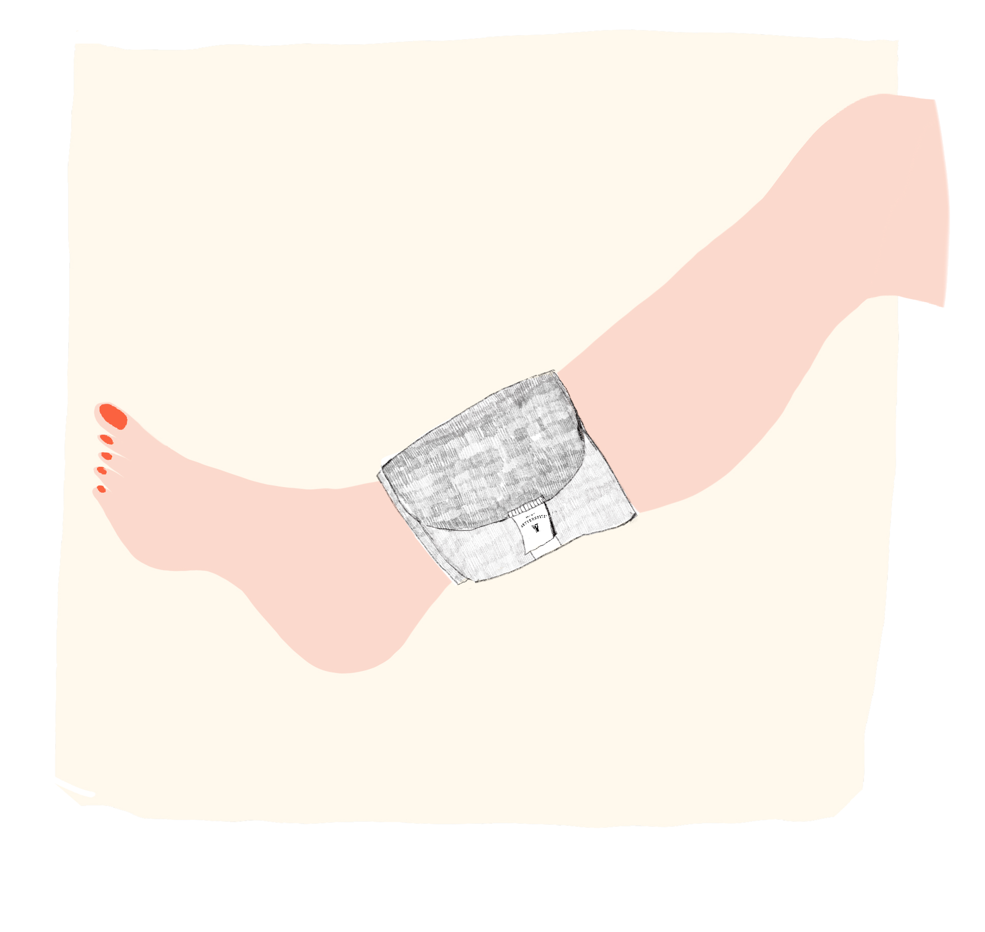 Anwendung von Retterspitz Wickel für Hals und kleinere Gelenke